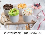 selection of different rolled... | Shutterstock . vector #1053996200