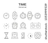 simple set of time related... | Shutterstock .eps vector #1053999539