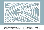 template for cutting. palm... | Shutterstock .eps vector #1054002950