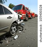 car accident | Shutterstock . vector #105400328