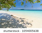 beautiful beach  seascape clear ... | Shutterstock . vector #1054005638
