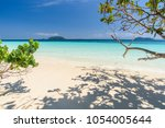beautiful beach  seascape clear ... | Shutterstock . vector #1054005644