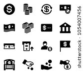 solid vector icon set   dollar... | Shutterstock .eps vector #1054007456