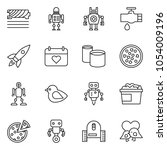 thin line icon set   rocket... | Shutterstock .eps vector #1054009196
