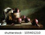 Onions In A Copper Bucket