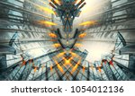 3d rendering of technology... | Shutterstock . vector #1054012136