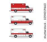 emergency ambulance vector... | Shutterstock .eps vector #1054019663
