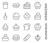 thin line icon set   cupcake...   Shutterstock .eps vector #1054022564