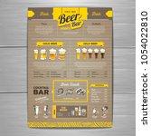 vintage beer menu design on... | Shutterstock .eps vector #1054022810