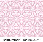 decorative floral seamless... | Shutterstock .eps vector #1054032074