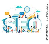 seo  search engine optimization ... | Shutterstock .eps vector #1054036619