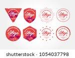 ibiza summer badge  beach club... | Shutterstock .eps vector #1054037798