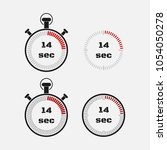 timer 14 seconds on gray... | Shutterstock .eps vector #1054050278