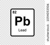 lead chemical element. sign... | Shutterstock .eps vector #1054053506