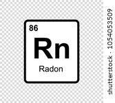 radon chemical element. sign... | Shutterstock .eps vector #1054053509