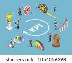 key performance indicator flat... | Shutterstock . vector #1054056398