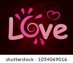 beautiful background with love... | Shutterstock .eps vector #1054069016