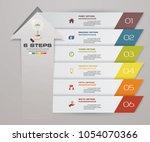 6 steps of arrow infografics...   Shutterstock .eps vector #1054070366