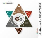infographic  geometric graph ... | Shutterstock .eps vector #1054074068