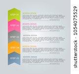 infographics template. business ... | Shutterstock .eps vector #1054075529