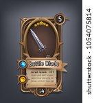 card of fantasy battle blade... | Shutterstock .eps vector #1054075814