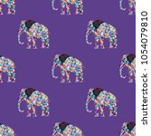 seamless pattern with polygonal ...   Shutterstock .eps vector #1054079810
