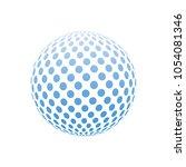 logo design. round shape.... | Shutterstock .eps vector #1054081346