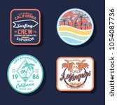 summer style patches set as... | Shutterstock .eps vector #1054087736