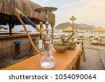 hookah on the beach | Shutterstock . vector #1054090064