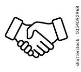 handshake icon. vector... | Shutterstock .eps vector #1054092968