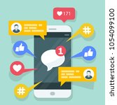 viral content  smm and social... | Shutterstock .eps vector #1054099100