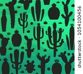 different types of cactus... | Shutterstock .eps vector #1054100456