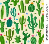 different types of cactus... | Shutterstock .eps vector #1054100474