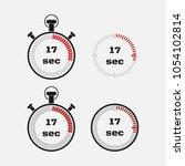 timer 17 seconds on gray... | Shutterstock .eps vector #1054102814