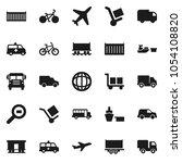 flat vector icon set   school... | Shutterstock .eps vector #1054108820