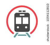 subway vector icon | Shutterstock .eps vector #1054112810