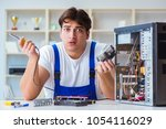 computer hardware repair and... | Shutterstock . vector #1054116029