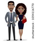 african american business man... | Shutterstock .eps vector #1054116770