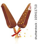 chocolate ice cream dessert on... | Shutterstock .eps vector #105411713