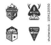 travel emblems  outdoor...   Shutterstock .eps vector #1054120550