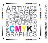cmyk letters design art image | Shutterstock .eps vector #105412244
