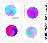 abstract gradient in the sphere ...   Shutterstock .eps vector #1054127303