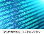 binary code abstract background.... | Shutterstock . vector #1054129499