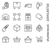 flat vector icon set   gift... | Shutterstock .eps vector #1054130720