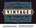 royal card. baroque ornaments... | Shutterstock .eps vector #1054135109