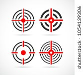 shooting sight vector icon... | Shutterstock .eps vector #1054139306