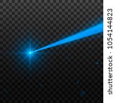abstract blue laser beam.... | Shutterstock .eps vector #1054144823