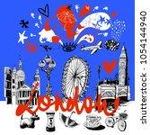 london  vector illustration ... | Shutterstock .eps vector #1054144940