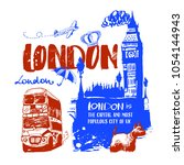 london  vector illustration ...   Shutterstock .eps vector #1054144943
