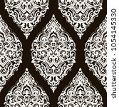 vector damask seamless pattern | Shutterstock .eps vector #1054145330